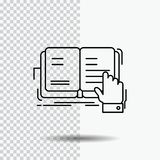 βιβλίο, μάθημα, μελέτη, λογοτεχνία, που διαβάζει το εικονίδιο γραμμών στο διαφανές υπόβαθρο Μαύρη διανυσματική απεικόνιση εικονιδ διανυσματική απεικόνιση