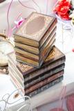 Βιβλίο με τη διακοσμητική κάλυψη anice Στοκ φωτογραφία με δικαίωμα ελεύθερης χρήσης