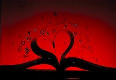 Βιβλίο μορφής της αγάπης Στοκ Εικόνες