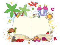 Βιβλίο φαντασίας ανοικτό Στοκ Εικόνες