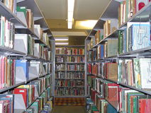 βιβλιοθήκη βιβλίων Στοκ εικόνα με δικαίωμα ελεύθερης χρήσης