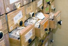 βιβλιοθήκη ευρετηρίων κ& Στοκ Φωτογραφία