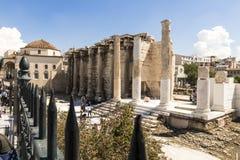 Βιβλιοθήκη του Αδριανού, Αθήνα, Ελλάδα στοκ εικόνες