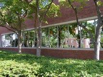 Βιβλιοθήκη του Lamont, ναυπηγείο του Χάρβαρντ, Πανεπιστήμιο του Χάρβαρντ, Καίμπριτζ, Μασαχουσέτη, ΗΠΑ Στοκ εικόνα με δικαίωμα ελεύθερης χρήσης