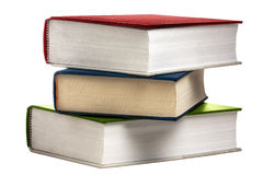 Βιβλία βιβλίων σωρών που χρωματίζονται που απομονώνονται Στοκ φωτογραφία με δικαίωμα ελεύθερης χρήσης