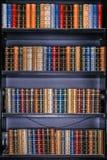 βιβλία βιβλιοθηκών Στοκ Εικόνες