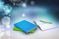 Βιβλία και μολύβι, έννοια εκπαίδευσης Στοκ φωτογραφία με δικαίωμα ελεύθερης χρήσης