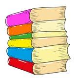 Βιβλία με τις καλύψεις χρώματος Βιβλία που απομονώνονται διανυσματικά Στοκ Φωτογραφία