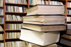 Βιβλία στη βιβλιοθήκη Στοκ Εικόνα