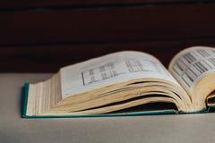βιβλίο ανοικτό πίσω σχολείο διάστημα αντιγράφων Τονισμένη αναδρομική εικόνα Στοκ εικόνα με δικαίωμα ελεύθερης χρήσης