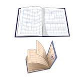 Βιβλίο ημερολογίων και σπουδαστών Στοκ Εικόνες