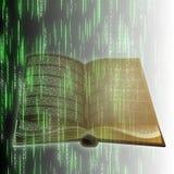 Βιβλίο και κώδικας διανυσματική απεικόνιση