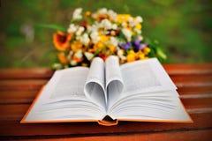 Βιβλίο με τις σελίδες μορφής καρδιών Στοκ φωτογραφία με δικαίωμα ελεύθερης χρήσης