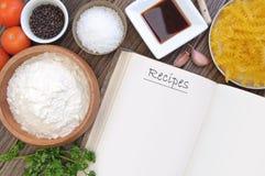 Βιβλίο συνταγής Στοκ Φωτογραφίες