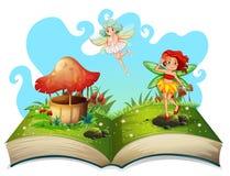 Βιβλίο των νεράιδων που πετούν στον κήπο απεικόνιση αποθεμάτων