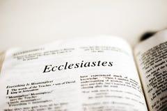 Βιβλίο Ecclesiastes στοκ εικόνες