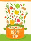Βιβλίο Resipe του υγιούς υποβάθρου τροφίμων Στοκ εικόνες με δικαίωμα ελεύθερης χρήσης