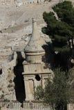Βιβλικός προφήτης Zechariah ενταφιασμών άποψης του Ισραήλ Ιερουσαλήμ Στοκ Εικόνες