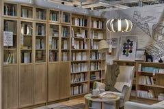 Βιβλιοθήκες και γραφείο σχεδιαγράμματος σχεδίων Στοκ Φωτογραφία