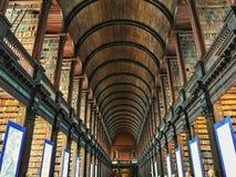 Βιβλιοθήκη Δουβλίνο Ιρλανδία κολλεγίου τριάδας στοκ εικόνα