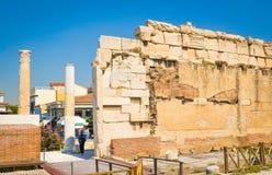 Βιβλιοθήκη του Αδριανού στην Αθήνα, Ελλάδα Στοκ Εικόνα