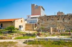 Βιβλιοθήκη του Αδριανού στην Αθήνα, Ελλάδα Στοκ φωτογραφίες με δικαίωμα ελεύθερης χρήσης