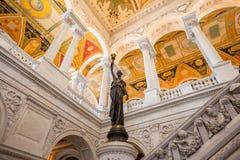 Βιβλιοθήκη του Κογκρέσου, εσωτερική του κτηρίου, συνεχές ρεύμα Στοκ φωτογραφία με δικαίωμα ελεύθερης χρήσης