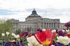 Βιβλιοθήκη του Κογκρέσου, οικοδόμηση του Thomas Jefferson, Washington DC στοκ εικόνα
