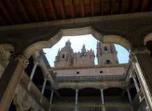 Βιβλιοθήκη του πανεπιστημίου Σαλαμάνκας, Ισπανία στοκ εικόνες
