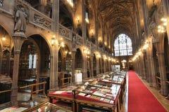 Βιβλιοθήκη του John Rylands στοκ εικόνες