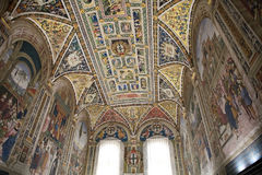 Βιβλιοθήκη Piccolomini, Σιένα, Τοσκάνη, Ιταλία Στοκ Εικόνες