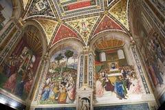 Βιβλιοθήκη Piccolomini, Σιένα, Τοσκάνη, Ιταλία Στοκ Εικόνα