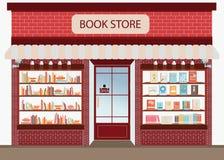 Βιβλιοπωλείο με τα ράφια Στοκ Εικόνες