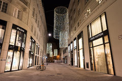 ΒΙΕΝΝΗ, ΑΥΣΤΡΙΑ - 13 ΝΟΕΜΒΡΊΟΥ 2015: Άποψη κέντρων της πόλης τη νύχτα Στοκ εικόνες με δικαίωμα ελεύθερης χρήσης