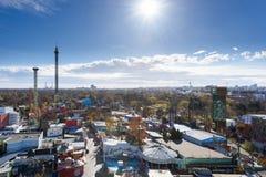 ΒΙΕΝΝΗ, ΑΥΣΤΡΙΑ - 14 ΝΟΕΜΒΡΊΟΥ 2015: Άποψη πόλεων από την καμπίνα prater Στοκ φωτογραφίες με δικαίωμα ελεύθερης χρήσης