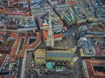 ΒΙΕΝΝΗ, ΑΥΣΤΡΙΑ - 10 ΟΚΤΩΒΡΊΟΥ 2016: Στέγη του καθεδρικού ναού του ST Stephen ` s, Βιέννη, Αυστρία Στοκ εικόνα με δικαίωμα ελεύθερης χρήσης
