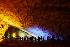 Βιετνάμ - μακρύς κόλπος εκταρίου - grotto Thien Cung Στοκ Εικόνα