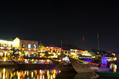 Βιετνάμ, Hoi μια αρχαία πόλη τη νύχτα Στοκ Εικόνα