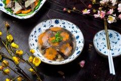 Βιετναμέζικα τρόφιμα για τις διακοπές Tet ζελατινοποιημένο κρέας Στοκ Εικόνες