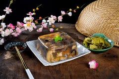 Βιετναμέζικα τρόφιμα για τις διακοπές Tet ζελατινοποιημένο κρέας Στοκ φωτογραφία με δικαίωμα ελεύθερης χρήσης