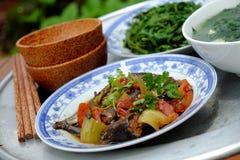 Βιετναμέζικα τρόφιμα, οικογενειακό γεύμα, χρόνος γευμάτων Στοκ Εικόνα