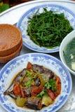 Βιετναμέζικα τρόφιμα, οικογενειακό γεύμα, χρόνος γευμάτων Στοκ Φωτογραφία