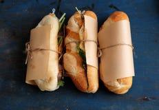 Βιετναμέζικα τρόφιμα οδών, banh mi thit Στοκ Εικόνα