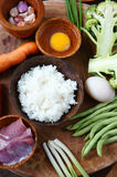 Βιετναμέζικα τρόφιμα, τηγανισμένο ρύζι, ασιατική κατανάλωση Στοκ φωτογραφία με δικαίωμα ελεύθερης χρήσης
