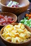 Βιετναμέζικα τρόφιμα, τηγανισμένο ρύζι, ασιατική κατανάλωση Στοκ εικόνες με δικαίωμα ελεύθερης χρήσης