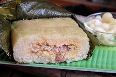 Βιετναμέζικα τρόφιμα, Tet, banh chung, παραδοσιακά τρόφιμα Στοκ Εικόνα