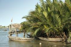 Βιετναμέζικες βάρκες, Βιετνάμ Στοκ Φωτογραφίες