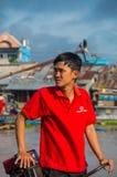 Βιετναμέζικη βάρκα στη να επιπλεύσει Tho δοχείων αγορά Στοκ φωτογραφία με δικαίωμα ελεύθερης χρήσης