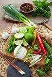 Βιετναμέζικη ζωηρόχρωμη επιτροπή συστατικών τροφίμων Στοκ Φωτογραφία