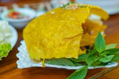 Βιετναμέζικος αλμυρός Crepe στοκ φωτογραφίες με δικαίωμα ελεύθερης χρήσης